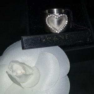 Chanel Heart ring authentic NWT